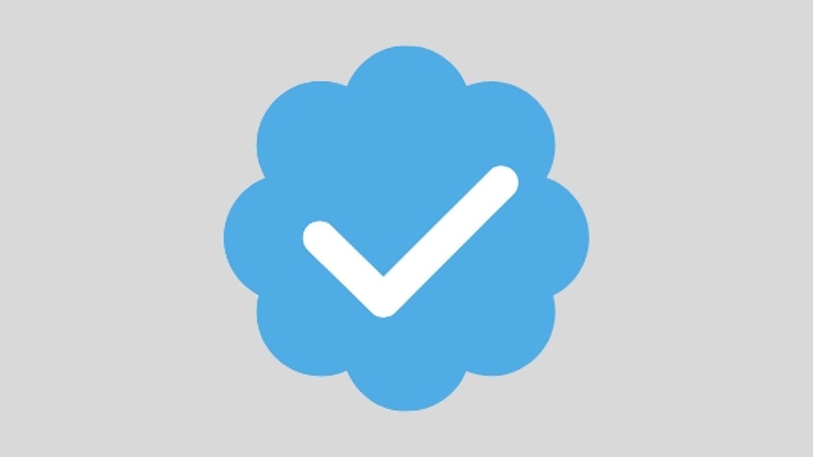 Twitter's blue verification checkmark icon