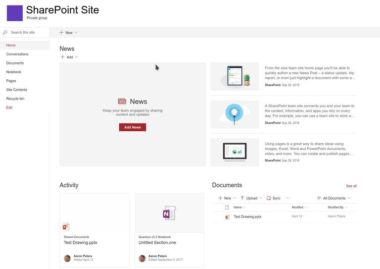 A Basic SharePoint Layout