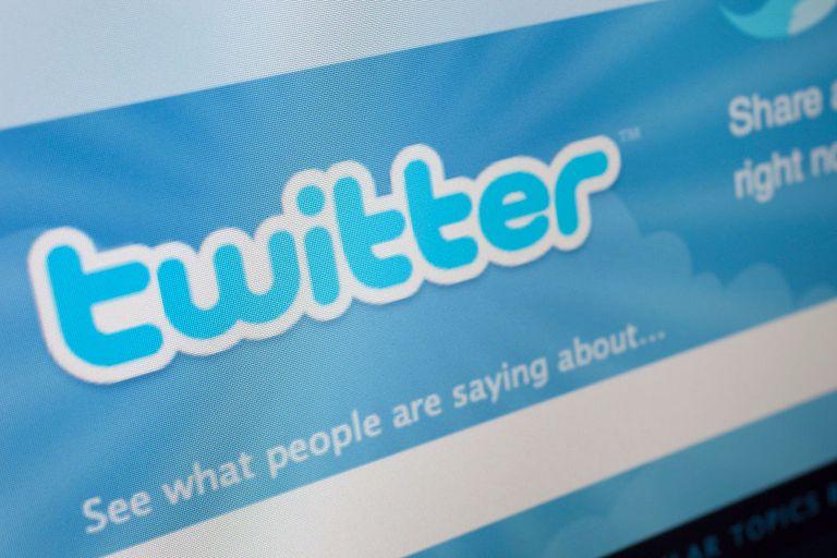 Twitter account on desktop computer