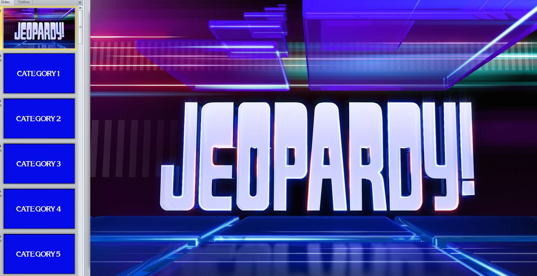 11 free jeopardy templates for the classroom for Jepordy template