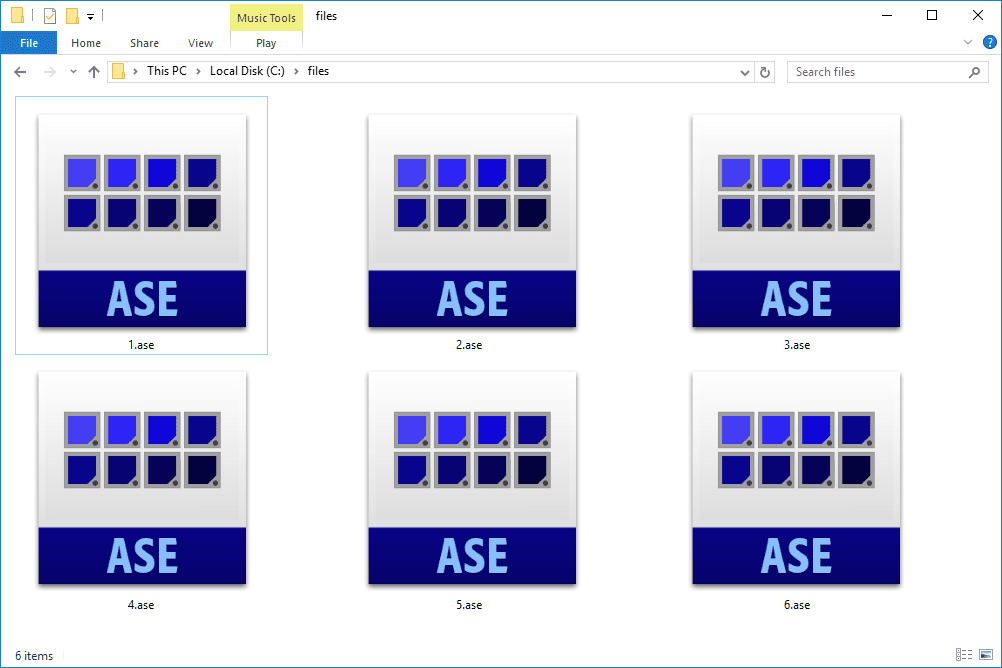 ASE files.