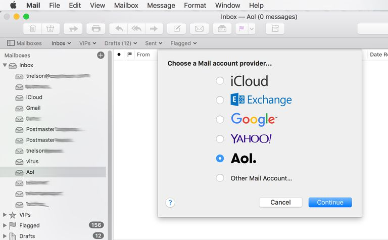 Adding AOL Mail Account