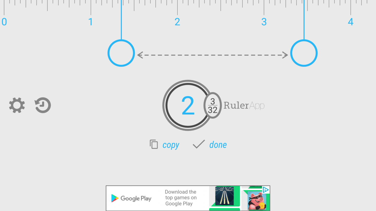 Screenshot of RulerApp for Android