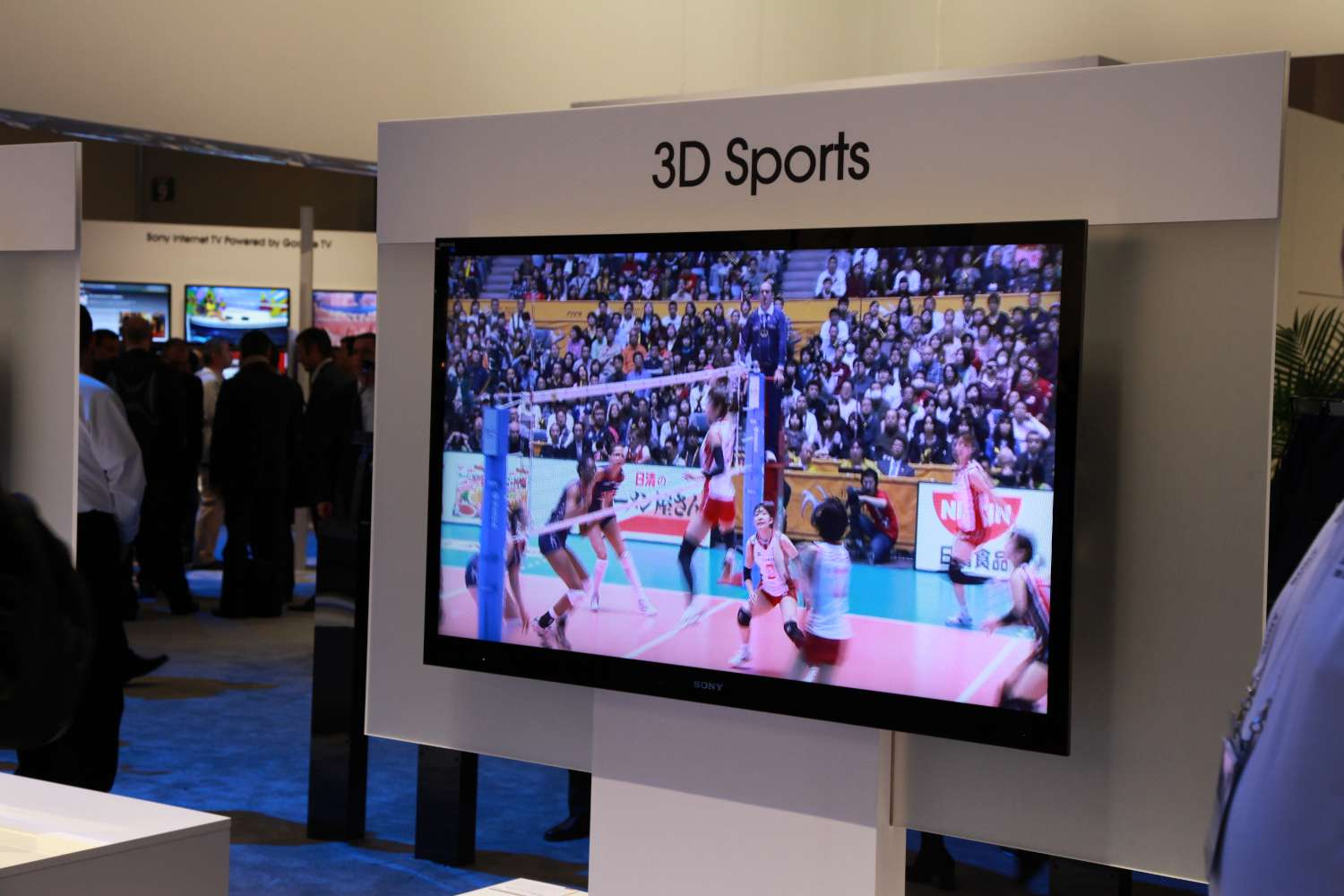 3DTV displaying sports at CES booth