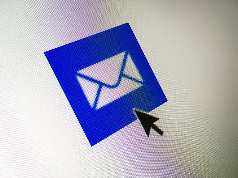Close-Up of cursor on mail icon