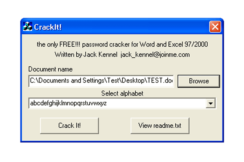 microsoft word encryption cracker