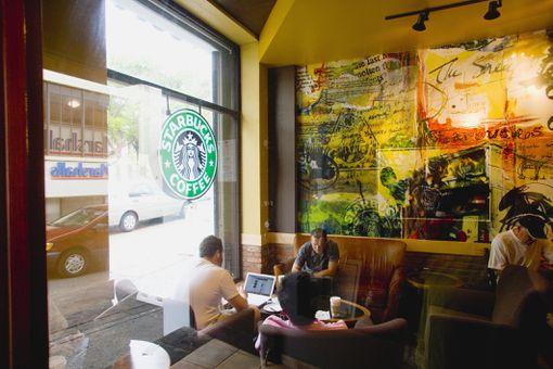 Starbucks on Plaza de Armas in Old San Juan