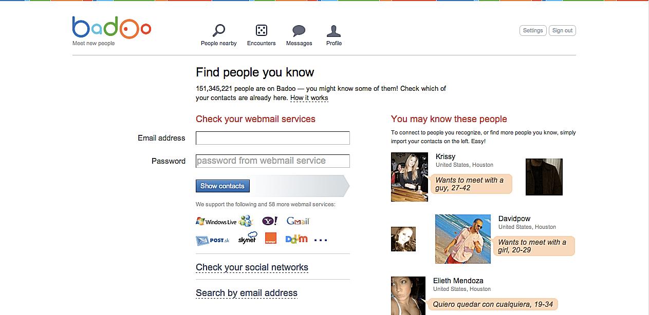когда был зарегистрирован сайт badoo