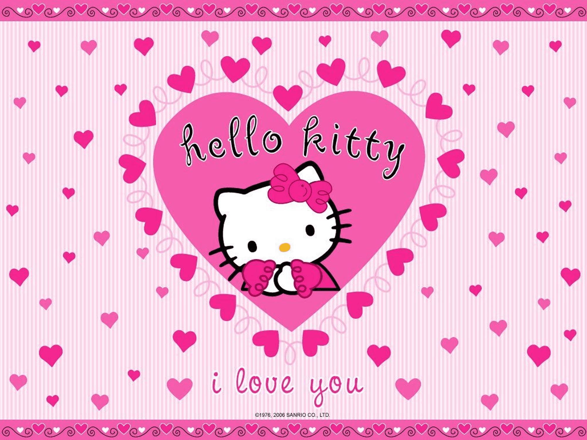 I Love You Hello Kitty Wallpaper