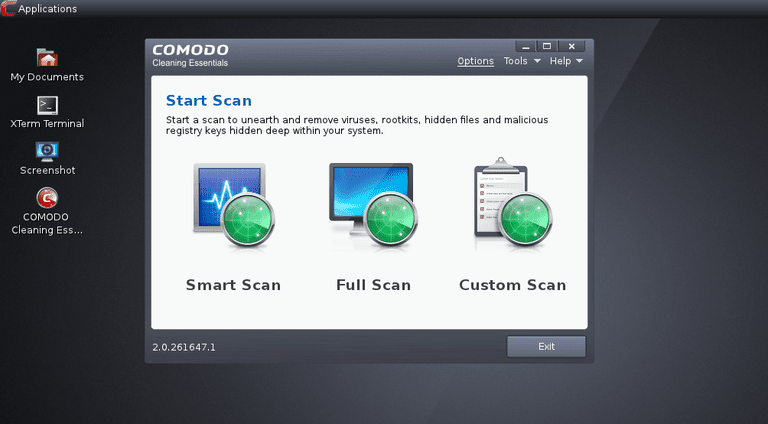 A screenshot of Comodo Rescue Disk v2