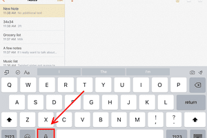 iPad Voice Dictation button screenshot
