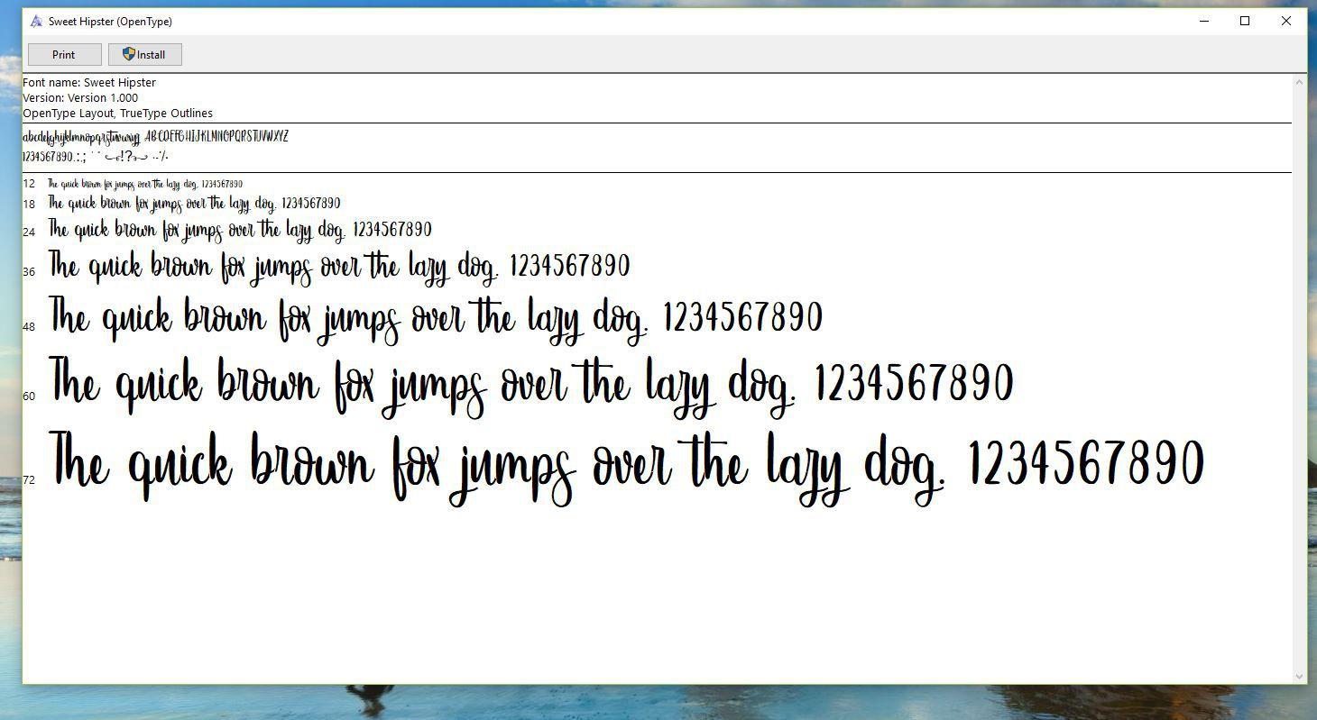 How to Install TrueType or OpenType Fonts in Windows