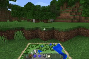 Player holding a map in Minecraft