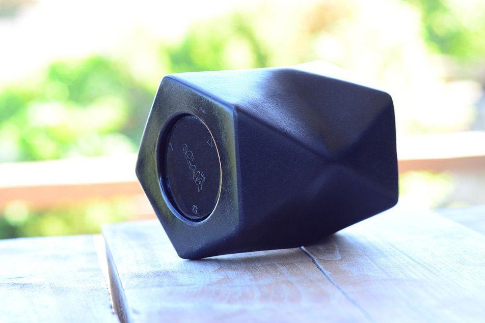 An unusual portable Bluetooth speaker