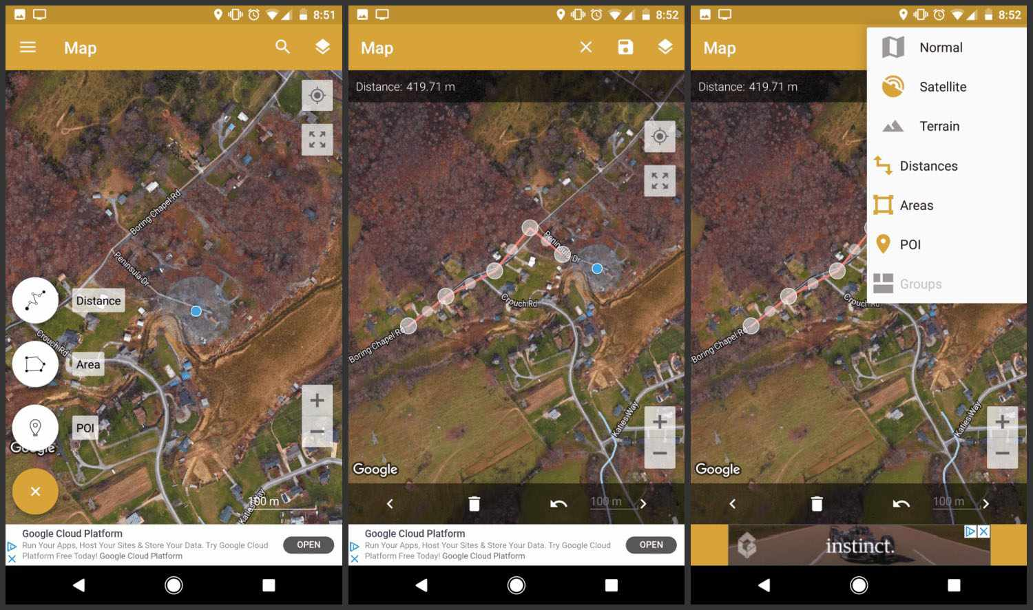GPS Fields Area Measure app for Android