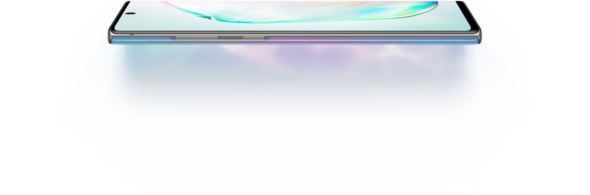 The left edge of the Samsung Note 10