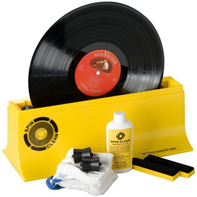 The Spin-Clean record washing system for cleaning vinyl records