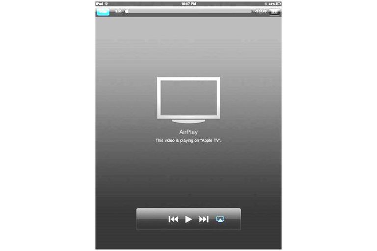 iPad Screenshot of AirPlay