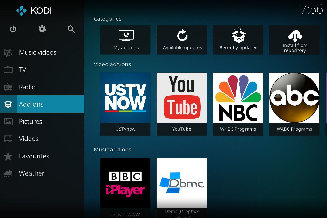 tv now kodi