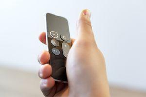An Apple TV Siri Remote