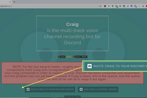 Setting up the Craig chatbot on Discord.