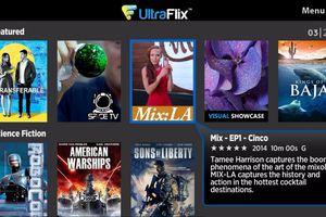 UltraFlix Roku channel menu example