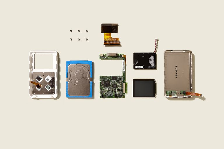 Disassembled iPod