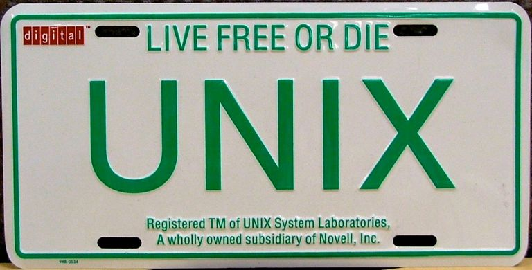 UNIX novelty license plate