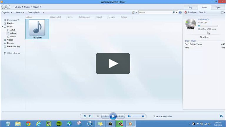 WMP screenshot