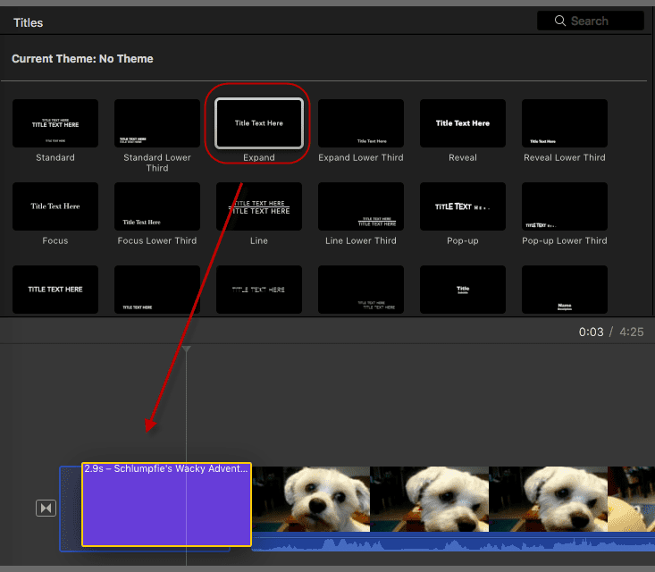 add text in imovie