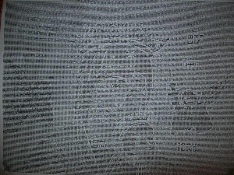 ASCII Art of biblical characters