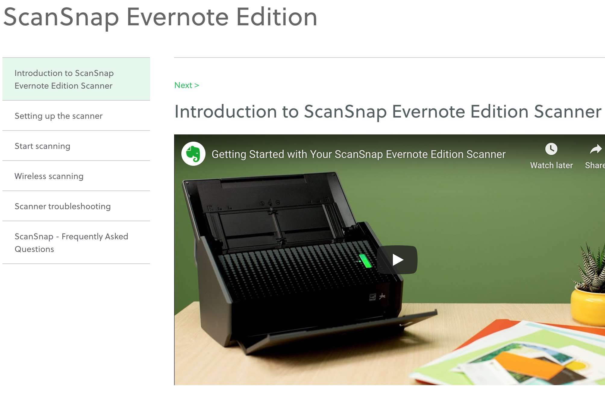 Using ScanSnap Evernote Edition