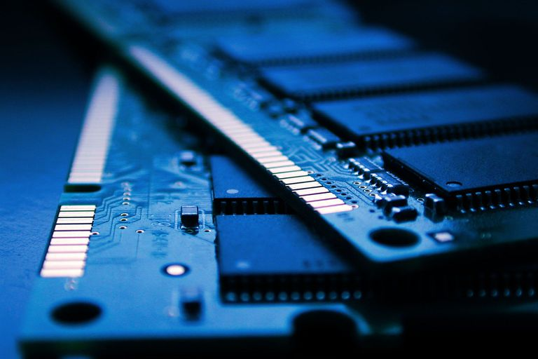 Close up of computer ram