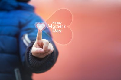 Mother's day photo and illustration.