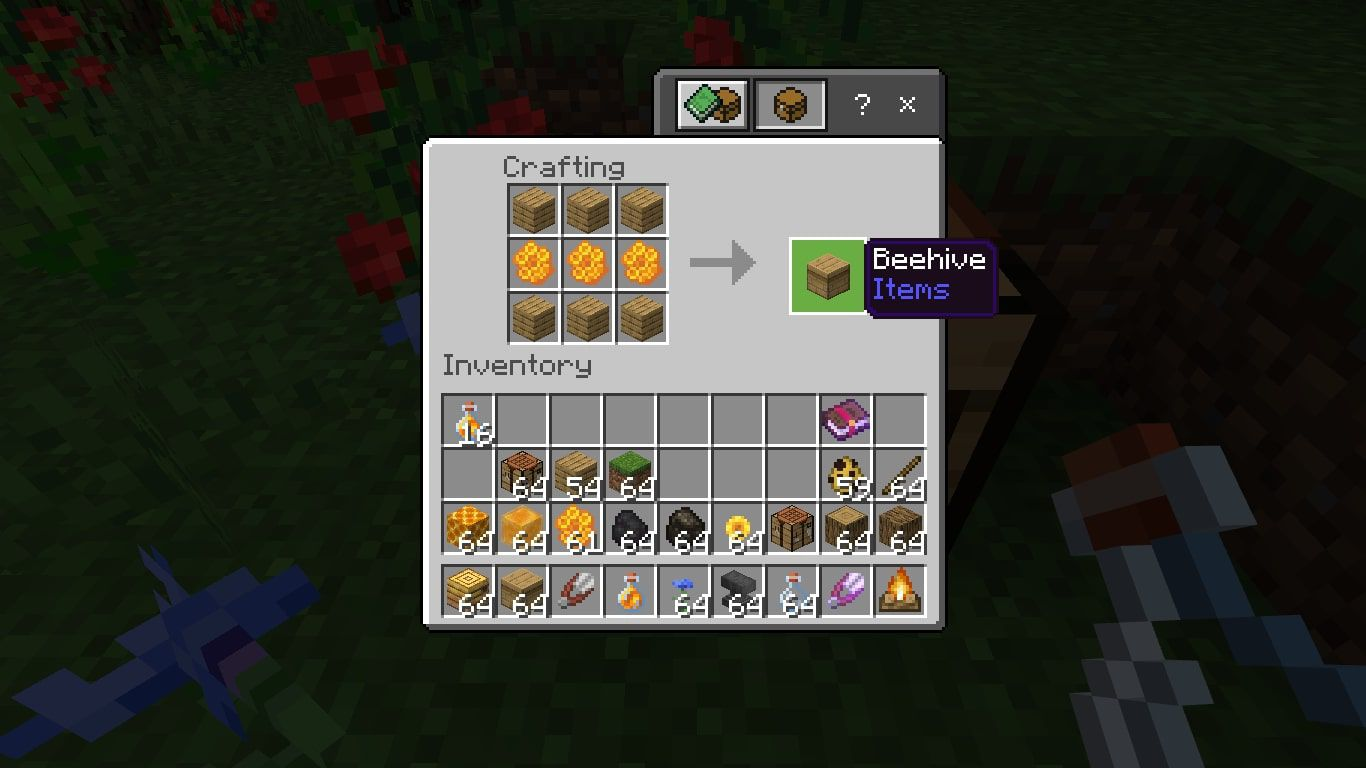 How to craft a beehive in Minecraft.