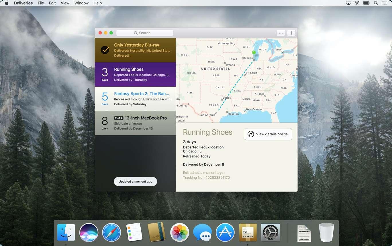 Deliveries 3 app for Mac