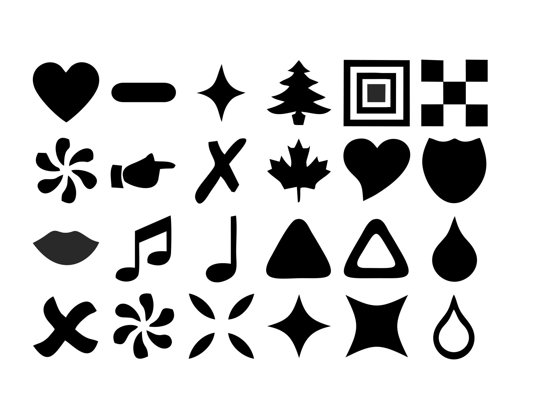 Free Basic Symbol Shapes For Photoshop