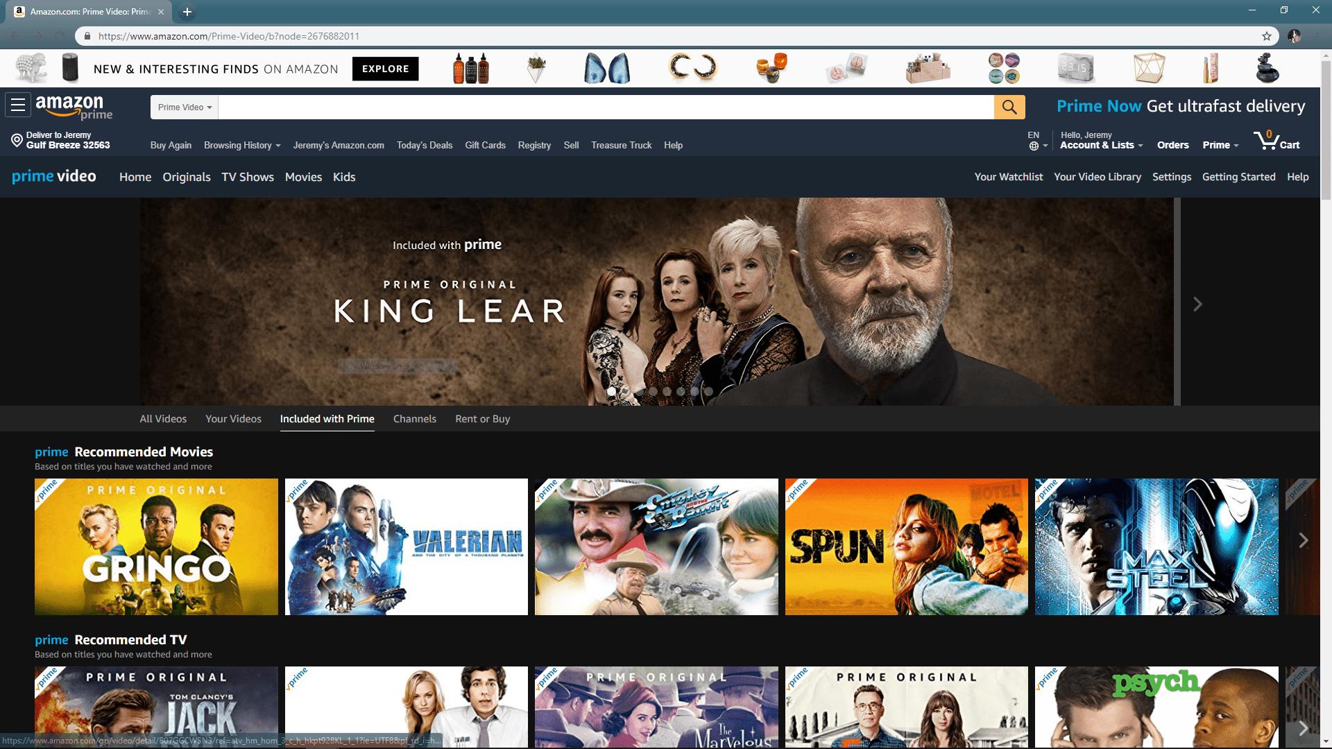where to watch amazon prime video free