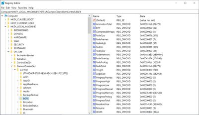 Windows 10 registry example