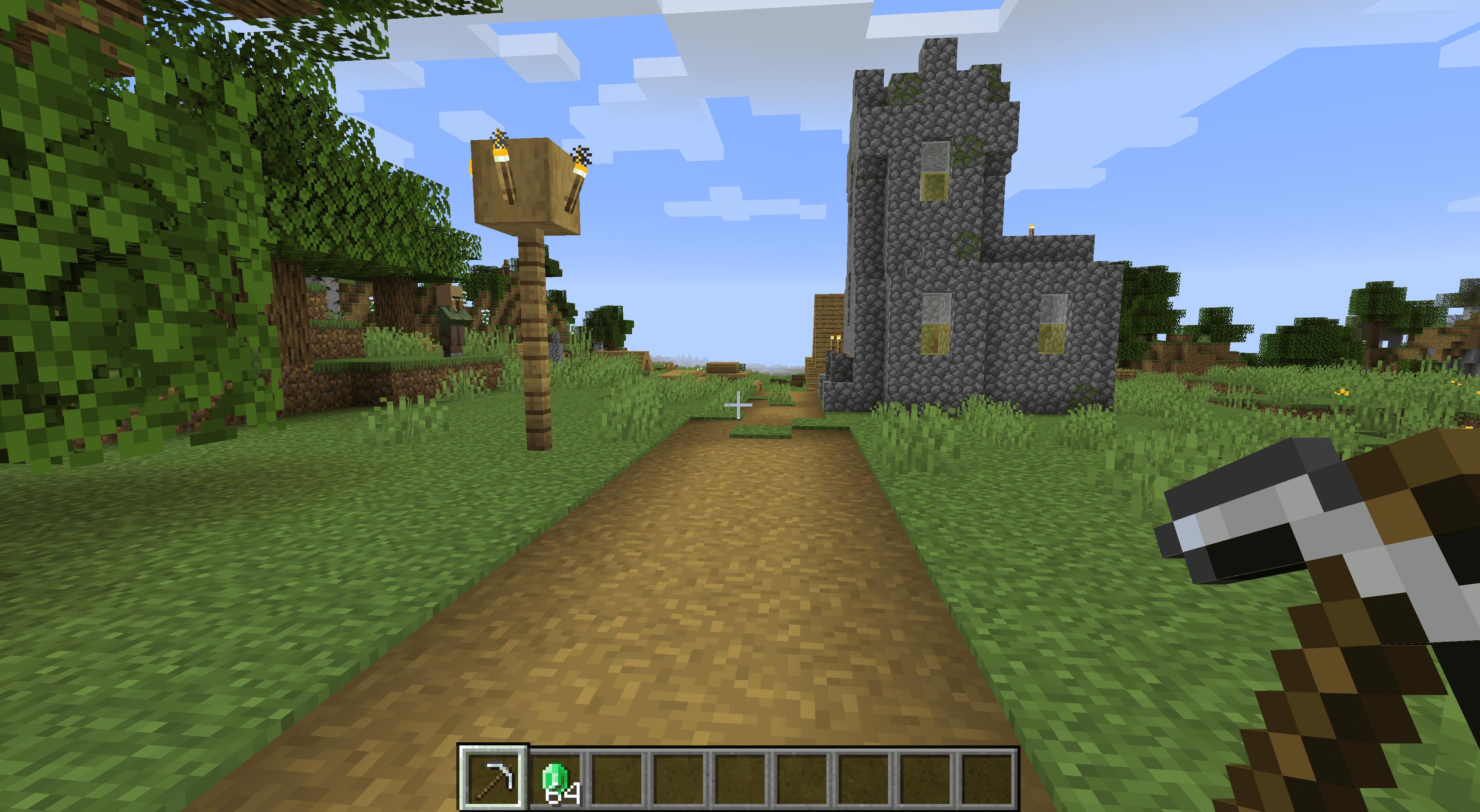 A village in Minecraft.