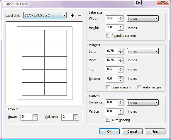Printing multiples in coreldraw coreldraw custom labels dialog box reheart Images