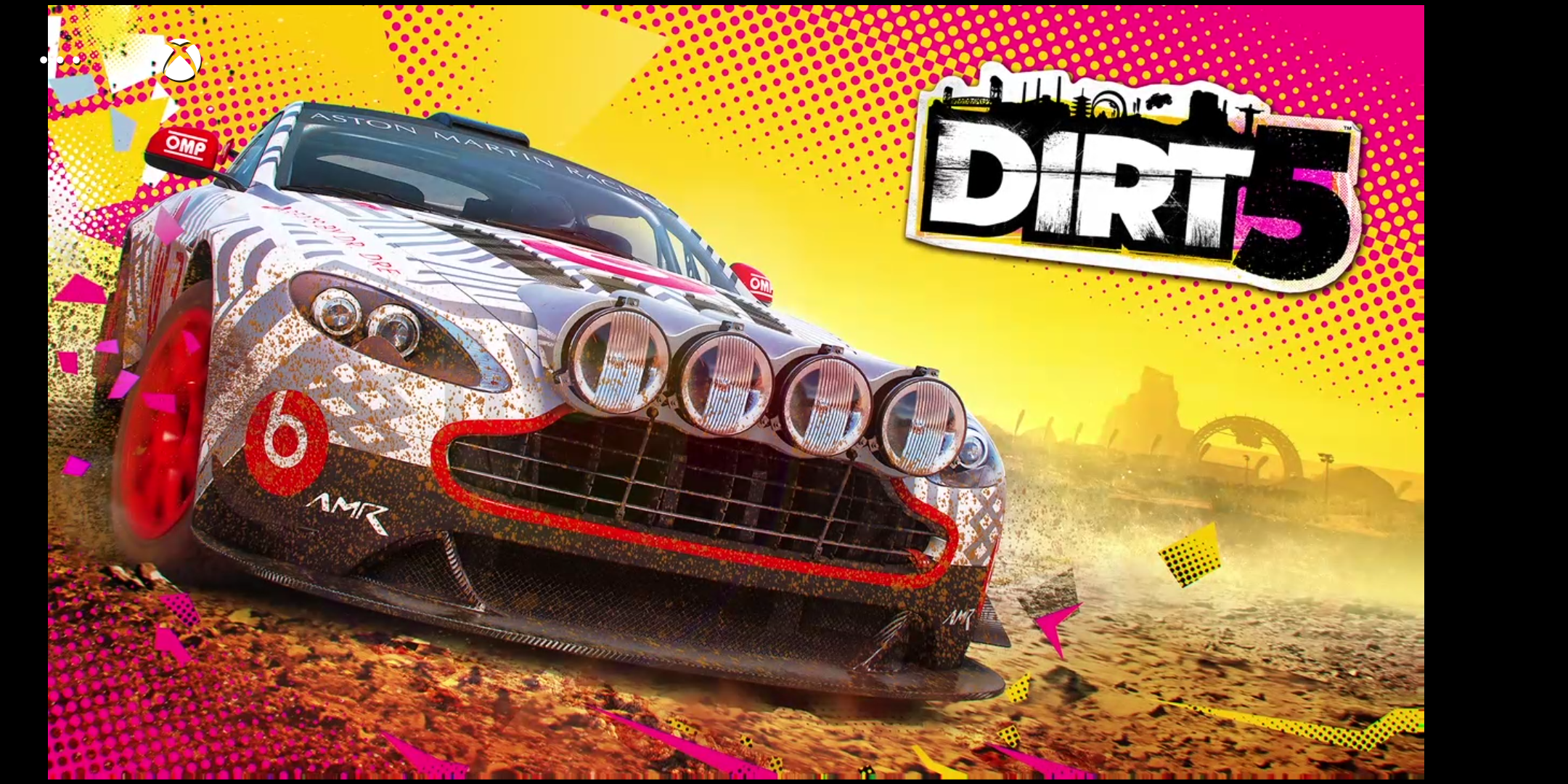 Dirt 5 on Xbox Series S streaming to a phone.