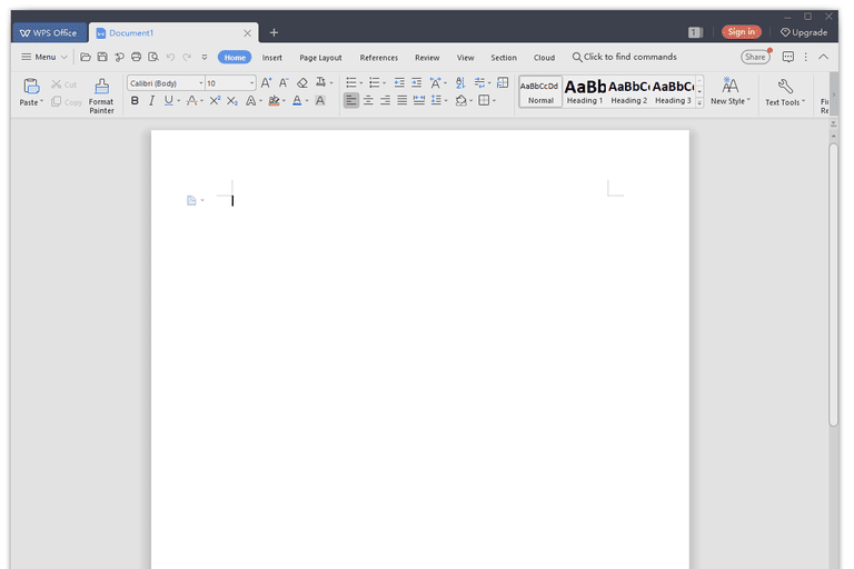 WPS Office free word processor