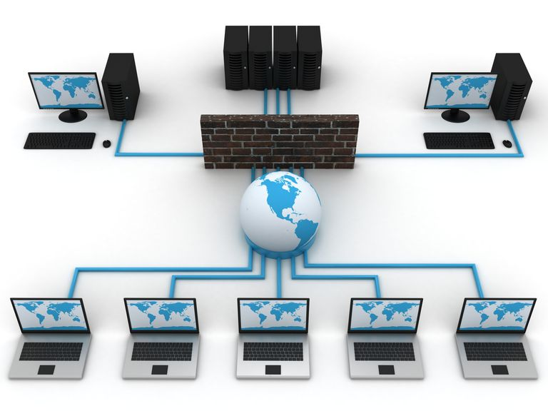An illustration of a simple computer network