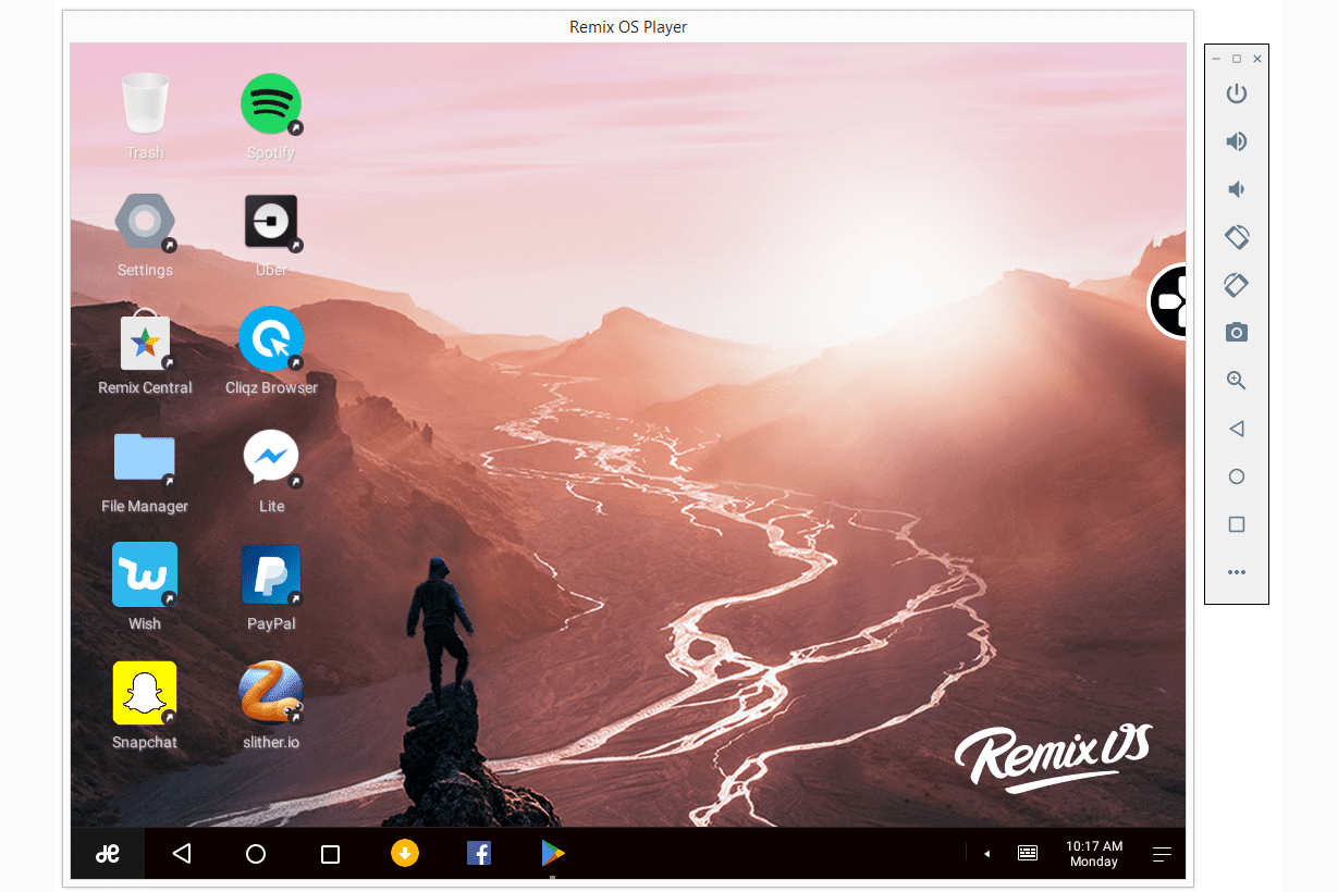 remix os player black screen
