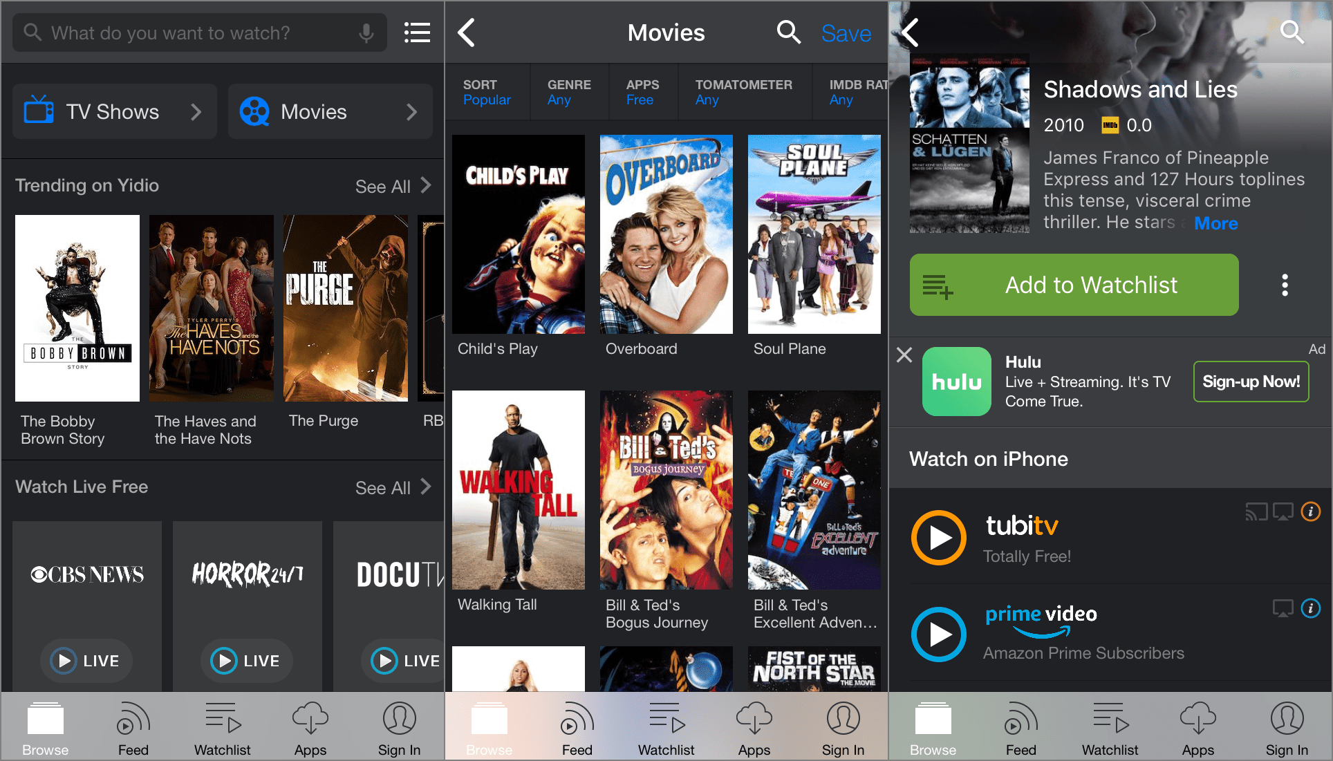 new free movie apps