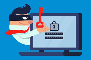 Theft and network security graphic