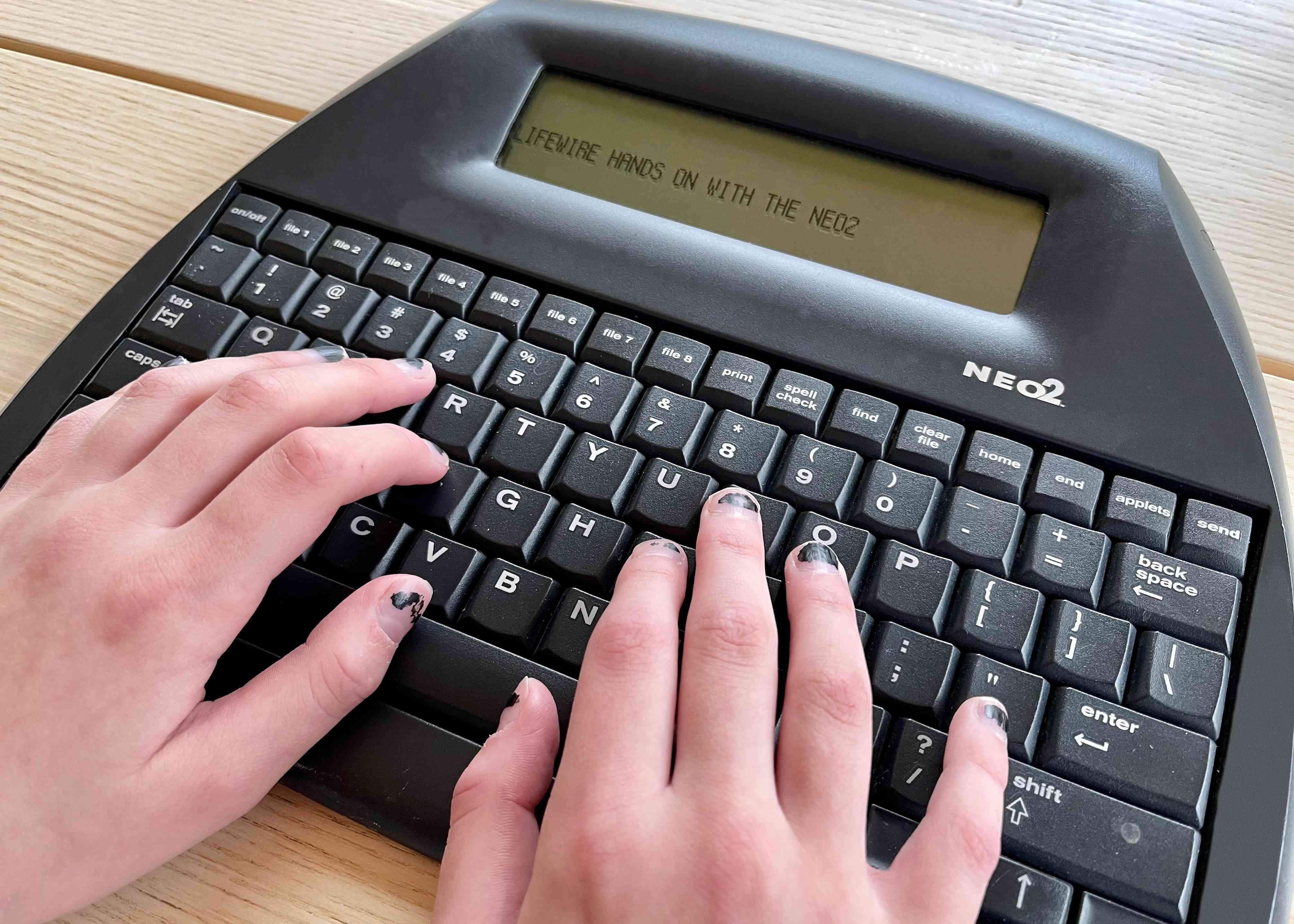 The Alphasmart Neo 2 word processor.