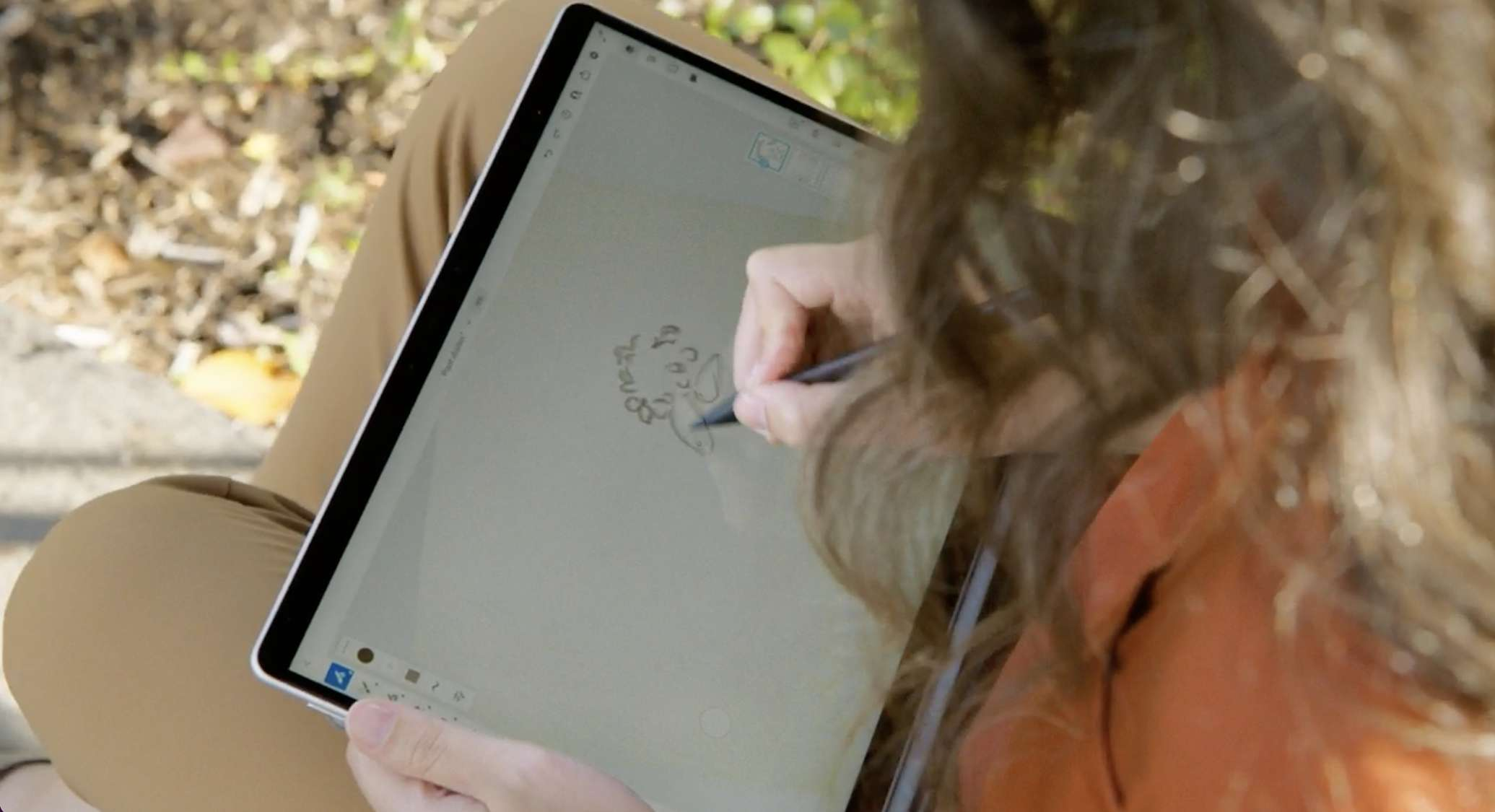 Surface Slim Pen 2 being used on the new Surface Pro 8