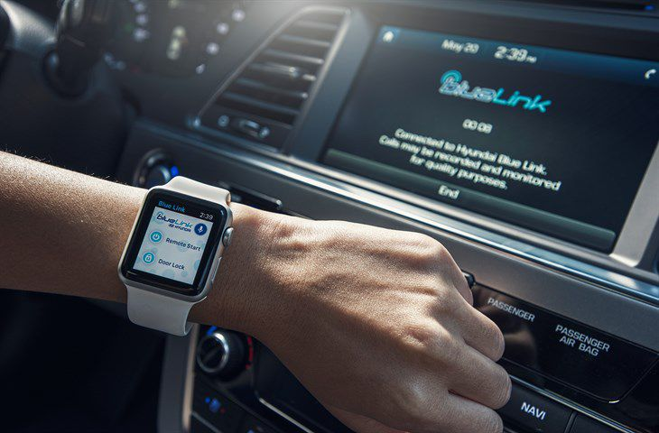 Apple Watch with car